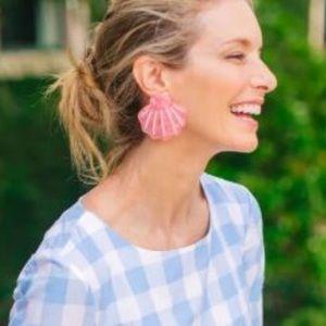 New Tuckernuck Mermaid Shell pink earrings